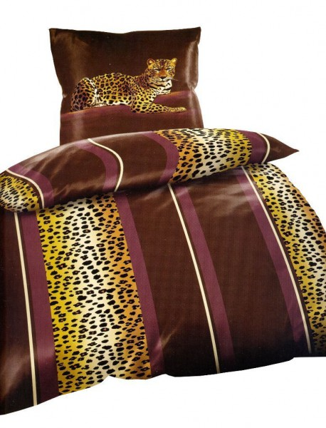 4 tlg winter flausch thermo fleece bettw sche mikrofaser 135x 200 cm leopard ebay. Black Bedroom Furniture Sets. Home Design Ideas