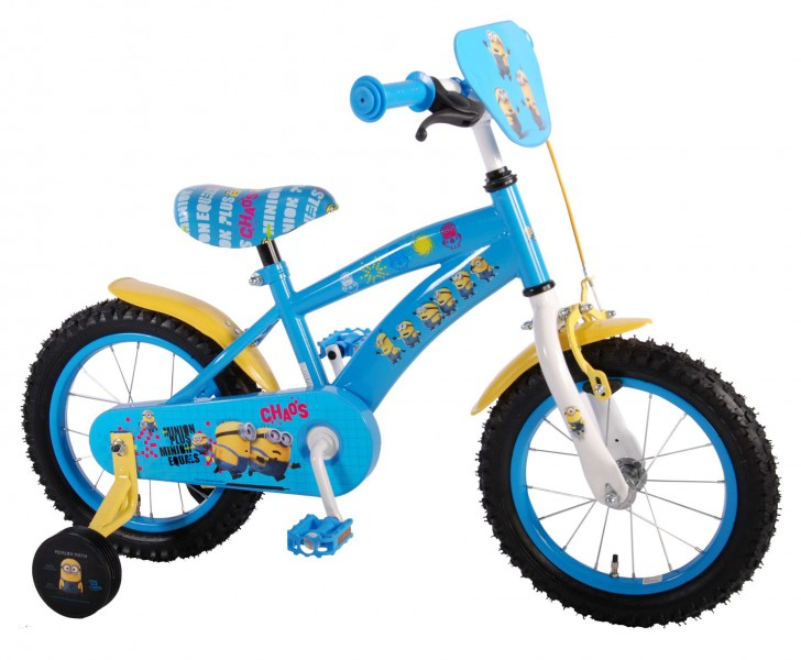 14 14 zoll kinderfahrrad kinder fahrrad bike rad disney minions mit st tzr der ebay. Black Bedroom Furniture Sets. Home Design Ideas
