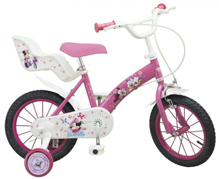 14 zoll 14 kinderfahrrad fahrrad m dchenfahrrad disney minnie mouse maus bike ebay. Black Bedroom Furniture Sets. Home Design Ideas