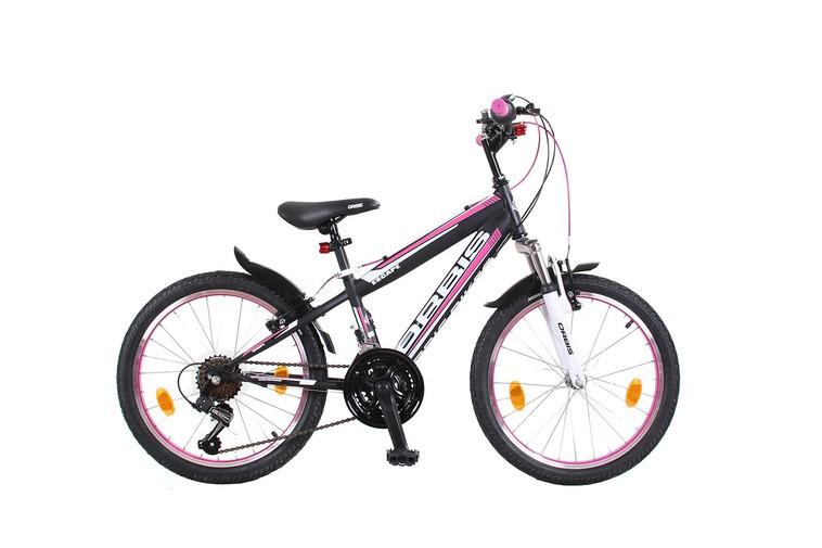 20 zoll mountainbike kinderfahrrad 18 gang escape schwarz pink fahrr der. Black Bedroom Furniture Sets. Home Design Ideas
