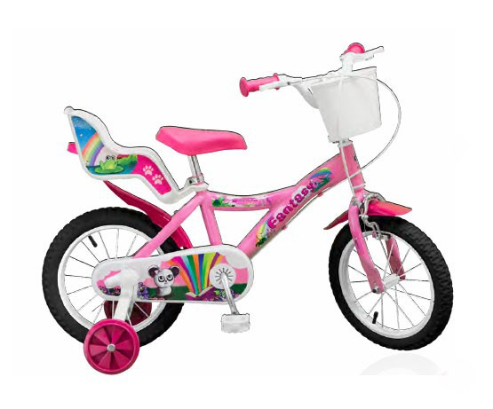 12 zoll kinderfahrrad m dchenfahrrad fantasy pink fahrr der. Black Bedroom Furniture Sets. Home Design Ideas