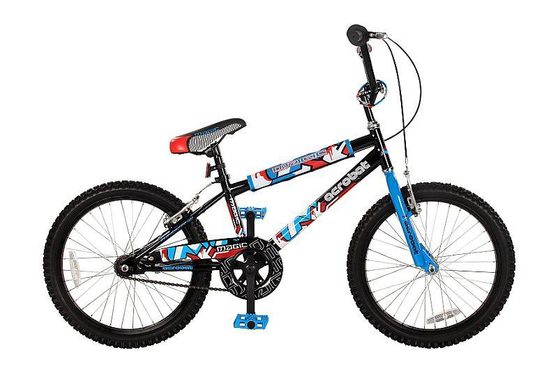 20 zoll kinderfahrrad bmx acrobat schwarz blau fahrr der. Black Bedroom Furniture Sets. Home Design Ideas