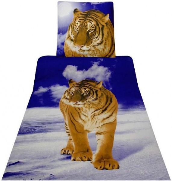 bettw sche renforce 100 baumwolle 135x200 2tlg tiger ebay. Black Bedroom Furniture Sets. Home Design Ideas