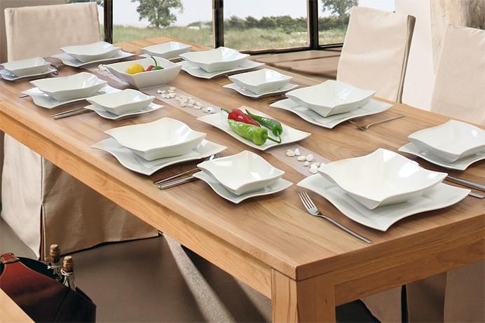 52 tlg porzellan tafelservice f r 12 personen elva. Black Bedroom Furniture Sets. Home Design Ideas
