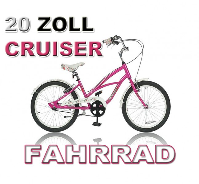 20 zoll cruiser m dchen fahrrad rosa m dchenmodel. Black Bedroom Furniture Sets. Home Design Ideas