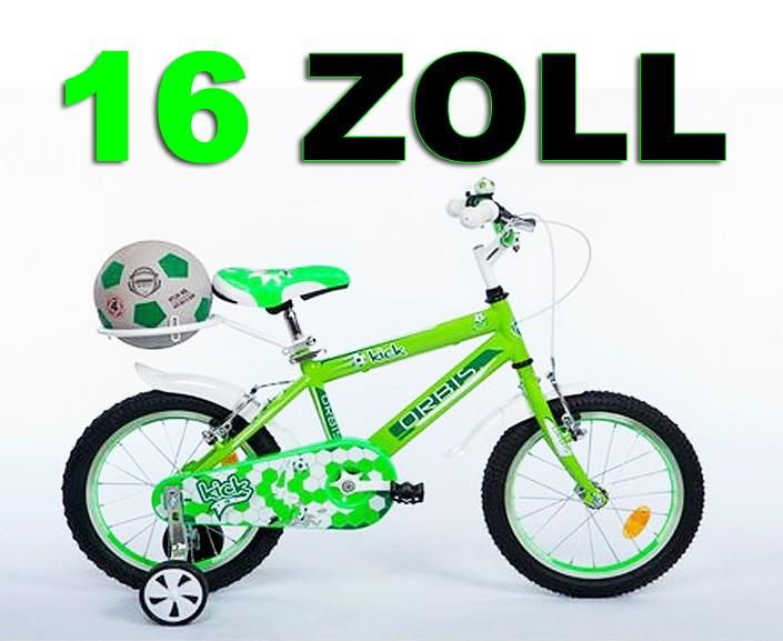 16 oder 20 zoll kinderfahrrad fahrrad fussball kick w hlbar fahrr der. Black Bedroom Furniture Sets. Home Design Ideas