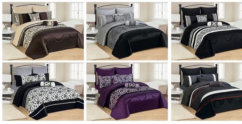 7 tlg xxl moderne tagesdecke bett berwurf 240x260cm decke set kissenbez ge ebay. Black Bedroom Furniture Sets. Home Design Ideas