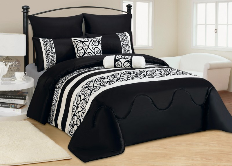 7 tlg xxl moderne tagesdecke bett berwurf 240x260cm decke. Black Bedroom Furniture Sets. Home Design Ideas