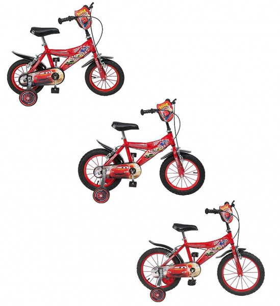 12 14 16 zoll kinderfahrrad disney cars mcqueen w hlbar. Black Bedroom Furniture Sets. Home Design Ideas