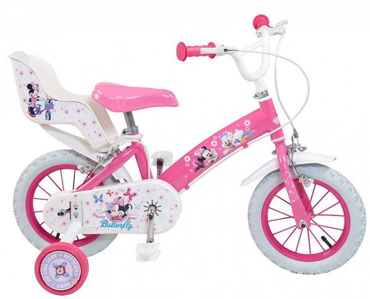 12 14 zoll kinderfahrrad fahrrad m dchenfahrrad minnie mouse fahrr der. Black Bedroom Furniture Sets. Home Design Ideas