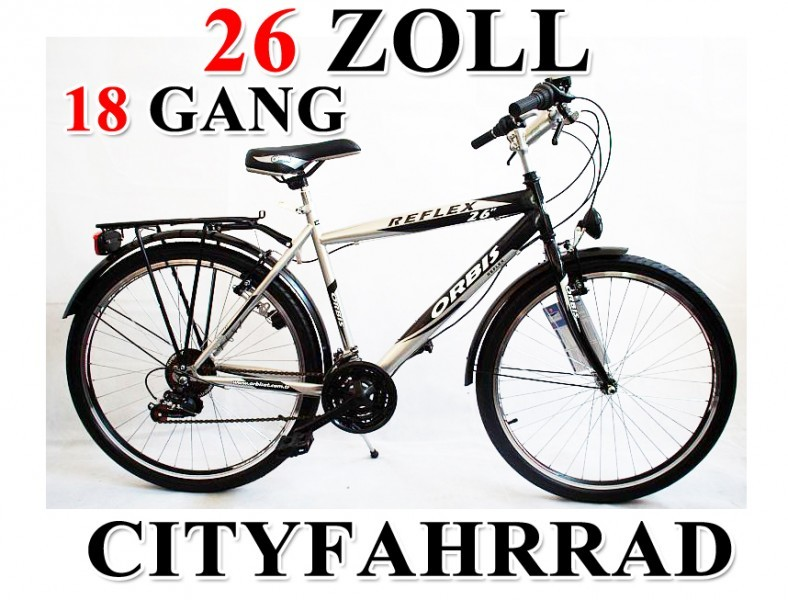 26 zoll herrenfahrrad cityfahrrad city bike herren jugend. Black Bedroom Furniture Sets. Home Design Ideas