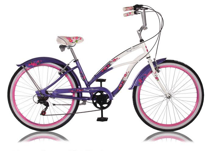24 26 zoll beachcruiser kinder m dchen damen cruiser fahrrad cherry blossom ebay. Black Bedroom Furniture Sets. Home Design Ideas