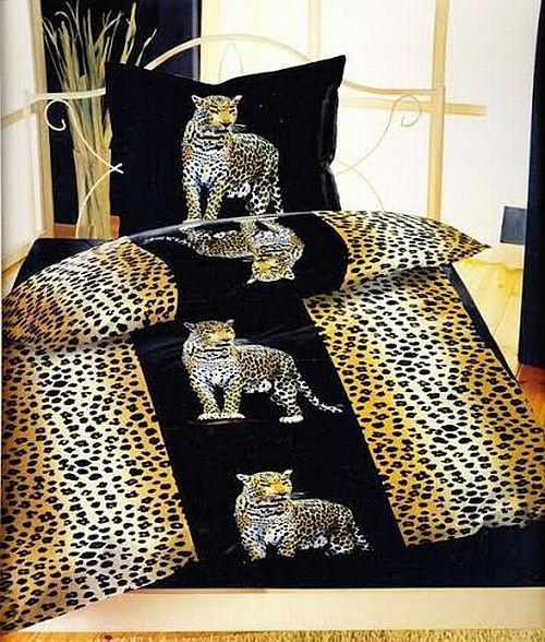 4 tlg bettw sche microfaser bett bezug garnitur 135x200 leopard balken schwarz ebay. Black Bedroom Furniture Sets. Home Design Ideas
