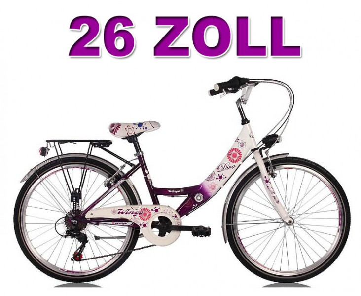 20 24 26 zoll kinderfahrrad cityfahrrad m dchenfahrrad. Black Bedroom Furniture Sets. Home Design Ideas