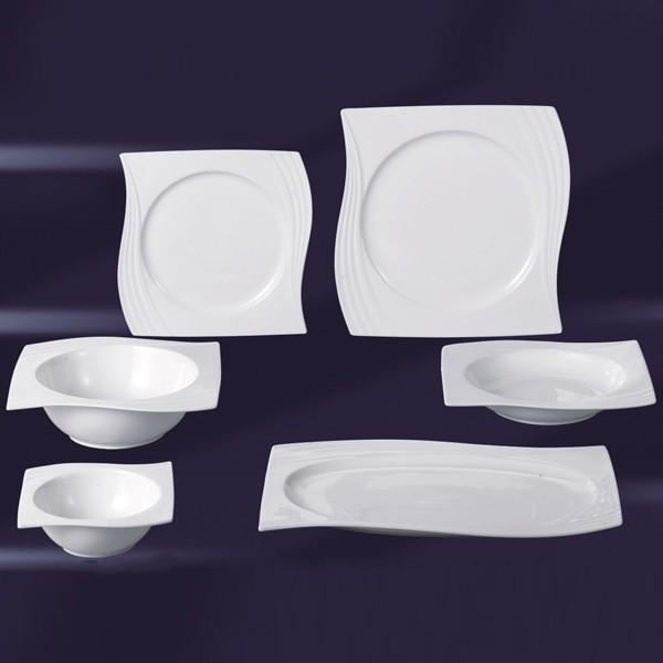 porzellan 26 tlg tafelservice eckig teller set geschirr 6 personen ess service ebay. Black Bedroom Furniture Sets. Home Design Ideas