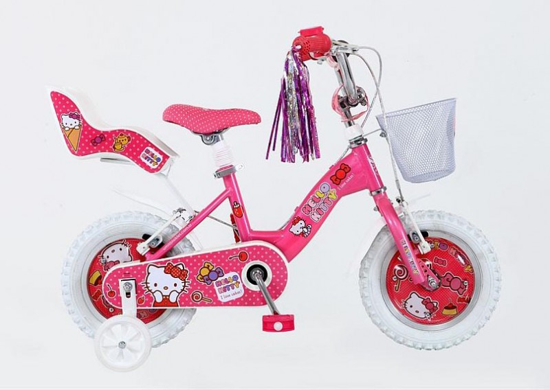12 zoll 12 hello kitty kinder m dchen rad kinderfahrrad. Black Bedroom Furniture Sets. Home Design Ideas