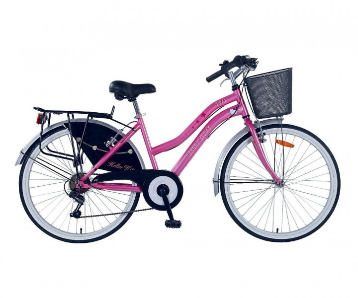 26 zoll 26 hello kitty kinder m dchen city citybike rad. Black Bedroom Furniture Sets. Home Design Ideas