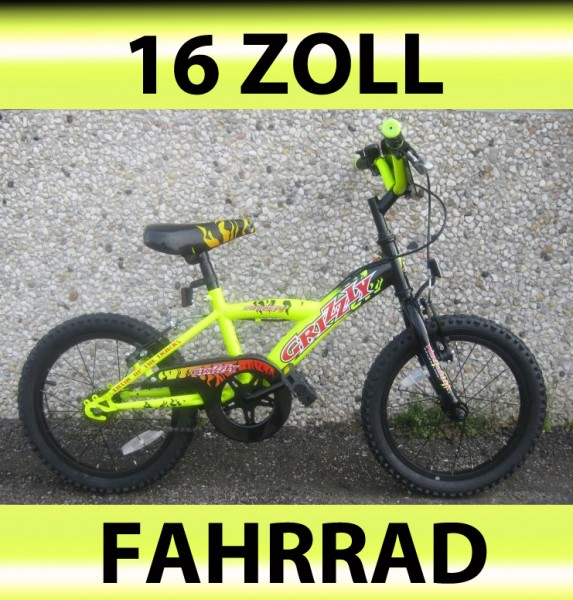 16 zoll fahrrad rad kinderfahrrad kinderrad grizzly ebay. Black Bedroom Furniture Sets. Home Design Ideas