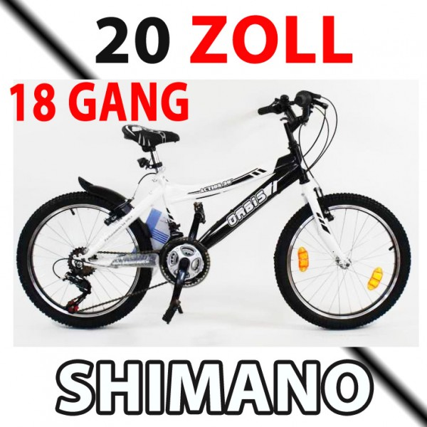 20 zoll mountainbike shimano 18 gang kinderfahrrad. Black Bedroom Furniture Sets. Home Design Ideas