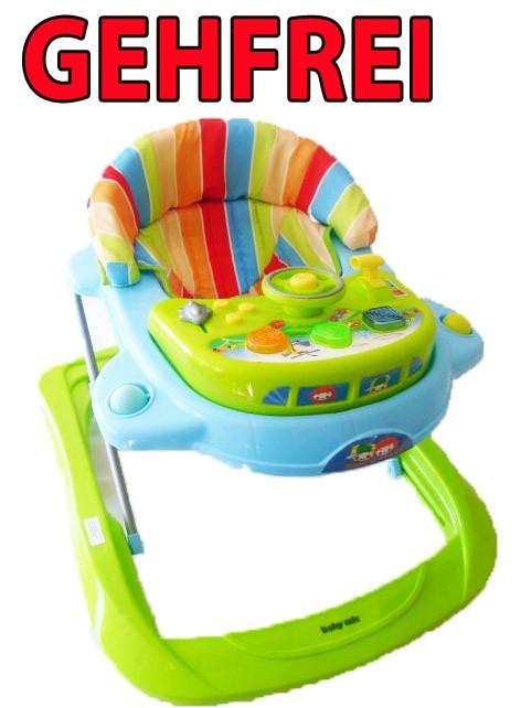 baby gehfrei lauflernhilfe lauflernwagen baby walker gehilfe laufhilfe gr n neu ebay. Black Bedroom Furniture Sets. Home Design Ideas