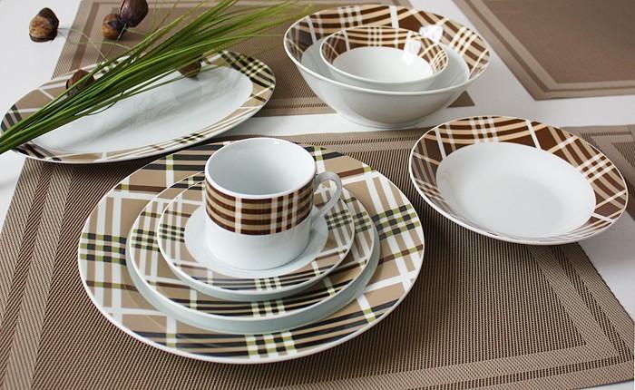 porzellan 76 tlg tafelservice teller set geschirr 12 personen ess service tassen ebay. Black Bedroom Furniture Sets. Home Design Ideas