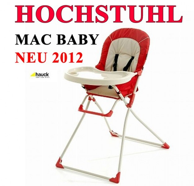 kinder hochstuhl stuhl kinderhochstuhl babyhochstuhl babystuhl mac baby hauck 20 ebay. Black Bedroom Furniture Sets. Home Design Ideas