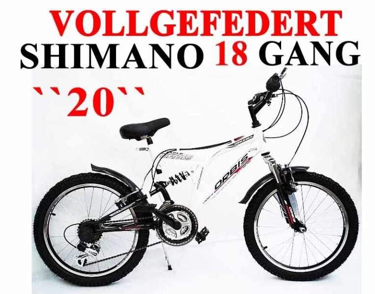 20 zoll mountainbike shimano 18 gang kinder fahrrad ebay. Black Bedroom Furniture Sets. Home Design Ideas
