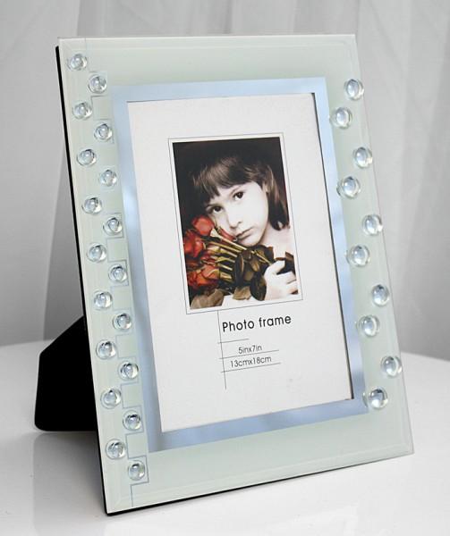 Großartig Bilderrahmen Fotorahmen mit Aufsteller Rahmen 13x18 Glas weiss  ZK51