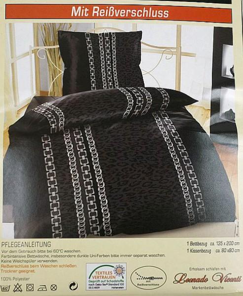2 tlg bettw sche microfaser bettbezug 155x220 kissenbezug 80x80 garnitur set ebay. Black Bedroom Furniture Sets. Home Design Ideas