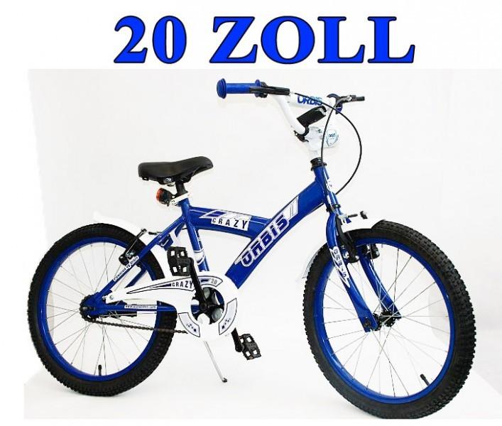 20 zoll kinder fahrrad kinderfahrrad crazy blauweiss. Black Bedroom Furniture Sets. Home Design Ideas