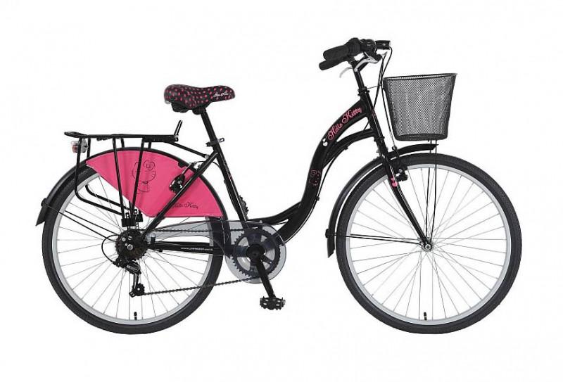 24 zoll kinderfahrrad m dchen city fahrrad hello kitty. Black Bedroom Furniture Sets. Home Design Ideas